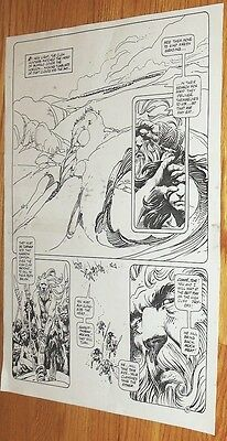 B&W Stat proof art 14.5 X 19 Joe Kubert Tor #2 Page 30 Marvel Epic Comics