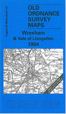 Old Ordnance Survey Map Wrexham Vale Of Llangollen 1904 Brymbo Chirk Ruabon