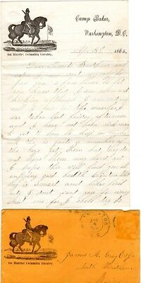 1864, District Columbia Cavalry, soldiers letter, thousands of horses needed