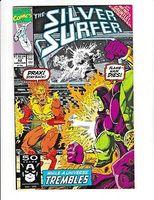 SILVER SURFER #52 (NM-) DRAX vs. FIRELORD! INFINITY GAUNTLET CROSSOVER! 1991
