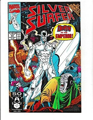 SILVER SURFER #53 (VF/NM) INFINITY GAUNTLET CROSSOVER! 1991 Marvel Copper-Age