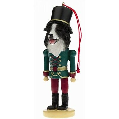 Border Collie Dog Soldier Holiday NUTCRACKER ORNAMENT