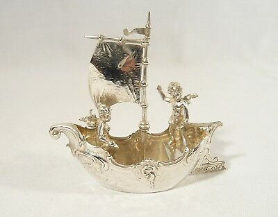 Antique Berthold Muller / Mueller Miniature Cherub Ship 1899