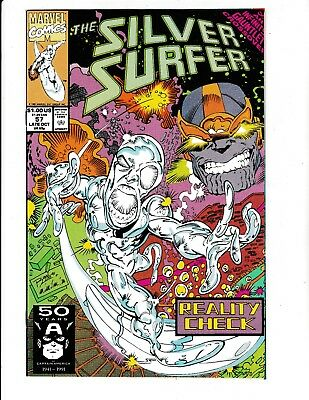 SILVER SURFER #57 (NM-) INFINITY GAUNTLET X-OVER! THANOS Appearance! 1991 Marvel