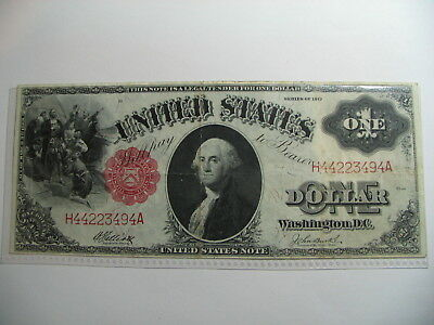 1917  $1    Large  Legal Tender Note   Sawhorse Back,  Decent example   as shown