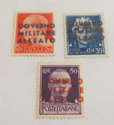 Italy 1943 Allied Military Government Naples overprint set