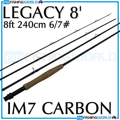 CATALYST : LEGACY 8' - 8ft 240cm 4 SECTION # 6/7 IM7 GRAPHITE FLY FISHING ROD