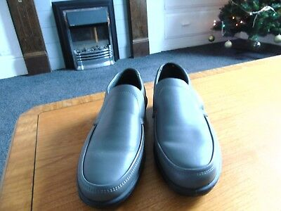 Mens Padders Digger Grey Leather Slip Ons Size Uk 7 New Without Box