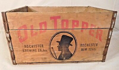 Antique Old Topper Ale & Beer Wooden Crate Case Rochester, Ny Exc!!