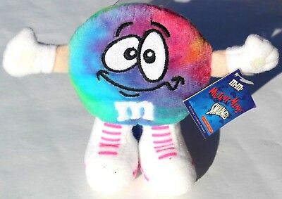 """M&M's """"The Swarmees"""" Mutant Mini Plush Character - NEON NEWMAN from 1998"""