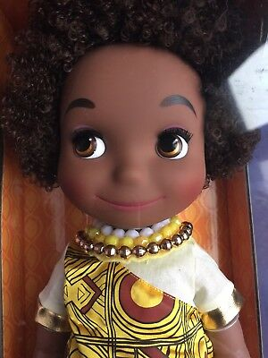 """NEW! Disney Animator's Collection Doll IT'S A SMALL WORLD KENYA 16"""" Doll NRFB"""