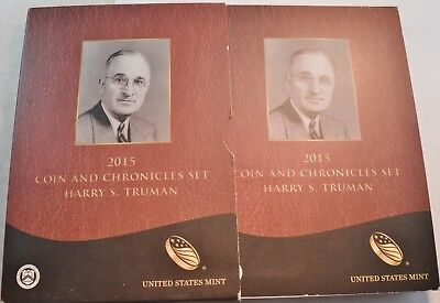 2015 Harry S Truman Coin and Chronicles Set Scarce Reverse PROOF $1 Silver Medal