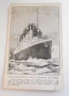 one month post-disaster! May 15,1912 postmark TITANIC illustrated POSTCARD