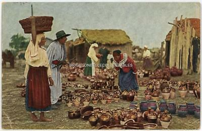 1920's ROMANIA TOPFMARKT PEOPLE ETHNIC POSTED POSTCARD WITH STAMPS
