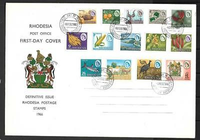 Rhodesia,  1966  Harrison Defins , On Illustrated Fdc,