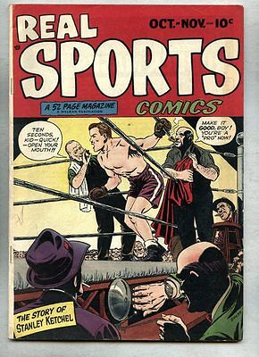 Real Sports Comics #1-1948 fn+ All Time / Montreal Canadians Dan Zolnerowich