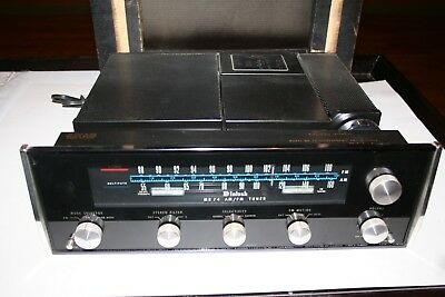 1970's McIntosh MR-74 AM/FM Stereo Tuner and Wood Cabinet