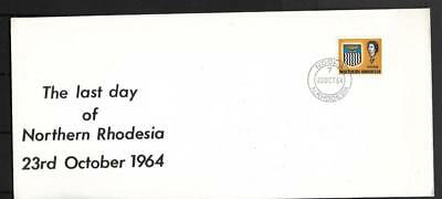N.rhodesia, Qe11 1964 Cover, Last Day Of Northern Rhodesia.