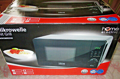 Mikrowelle mit Grill home Electric MWG 8002SW 800W Microwelle
