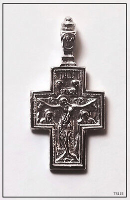 Orthodox Silver Cross Pendant Jc Jesus Christ Crucifix (Ts115)