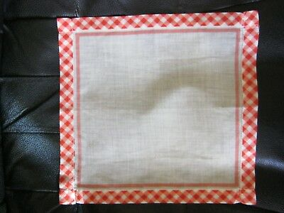 Unique & Lovely Checkered Vintage Handkerchief. Pretty!A Must SEE!