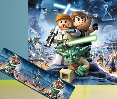 €4,84/m2 STAR WARS Kinder Fototapete+BORDÜRE Tapete Zimmer Poster Jedi Skywalker