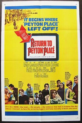 Return To Peyton Place 1961 Carol Lynley Jeff Chandler Jose Ferrer US Poster