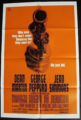 Rough Night In Jericho 1967 George Peppard Dean Martin Jean Simmons US Poster