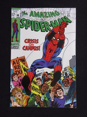 Amazing Spider-Man #68 MARVEL 1969 - HIGH GRADE - crisis on campus - Stan Lee!!!