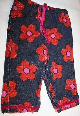 Girl's Mini Boden Floral Cords - 6-12 Months - ADORABLE