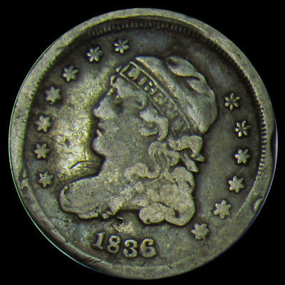 1836 Capped Bust Half Dime - Capped Bust Half 10C