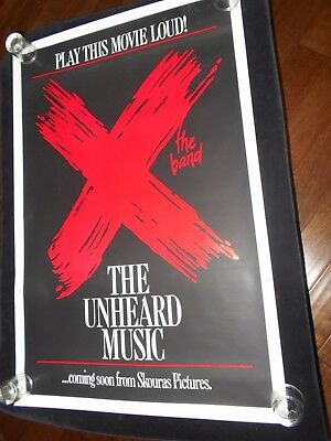 X The Band The Unheard Music  Original Rolled One Sheet Poster  New Wave