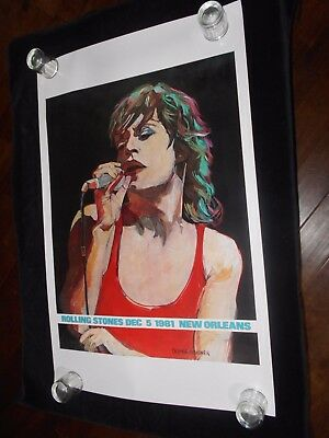 Rolling Stones Concert  Original Rolled One Sheet Poster