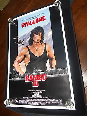 Rambo III  Original  Rolled One Sheet   Sylvester Stallone