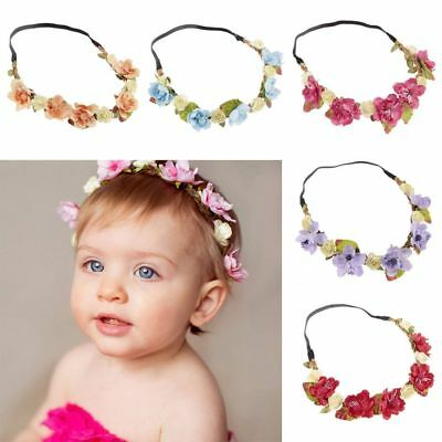 Bohemia Flower Hairband Baby Kids Floral Crown Headband Wedding Girls Headwear