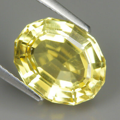 Wonderful 4.69 Ct Natural Unheated Yellow APATITE Oval Gem @ See Video !!
