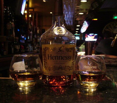 Hennessy Cognac Stemless Snifters Glasses Gift Set (2)