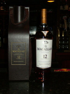 Macallan Leather Bottle Gift Bag - Bottle not included