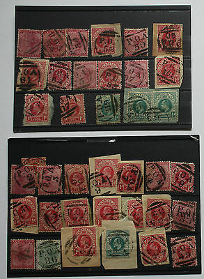 South Africa- P.O.A. Prisoner of war -great collection of 36 Postmarks on stamps