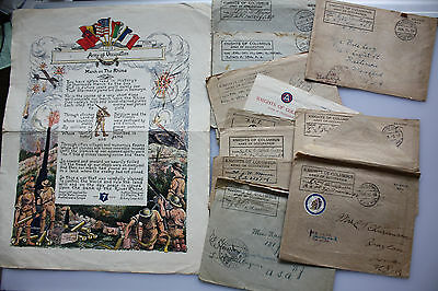 12  x Third Armee Feldpost WK I - Knights of Columbus + Army of Occupation