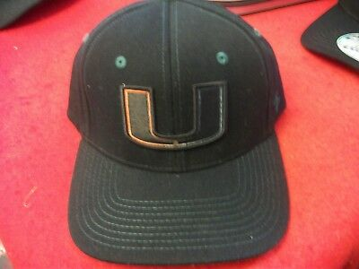 new style 4972e 86a6b NWT Miami Hurricanes The U Canes NCAA Zephyr Flex fit Hat Cap M L SAMPLE