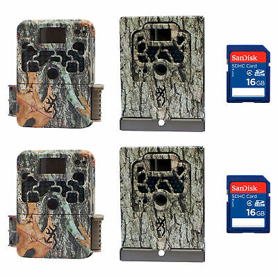 Browning Strike Force 850 16MP Game Camera (2 Pack) w/ Security Boxes & SD Cards
