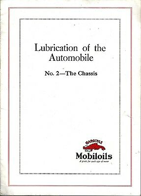 1917 Mobiloils Gargoyle Logo - Lubrication Of The Automobile Booklet - Chassis