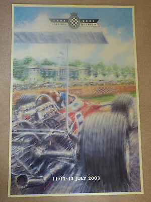 GOODWOOD FESTIVAL of SPEED 1993 - 2003.Signed  Ltd Edition Poster Rare