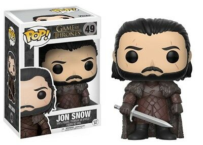 Funko Pop Jon Snow 49 Game Of Thrones Vinyl Vinile Figure Figura 12215 - New