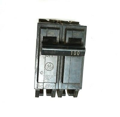 GE General Electric THQL21100 Circuit Breaker 2 Pole 100 Amp 120/240VAC