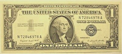 1 Dollar, Silver Certificate, Series of 1957A, Centered.
