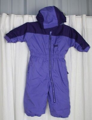 ae63029d12d REI Infant Toddler Snow Suit w  Growth Feature Purple Insulated Fleece Lined