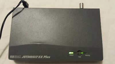 Qty (2x) HP JetDirect EX Plus J2591A external print server without HP AC adapter