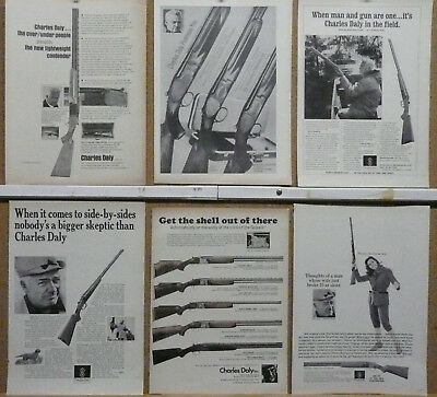 Charles Daly Shotgun Ad Lot (12) 1964-1970 print ads